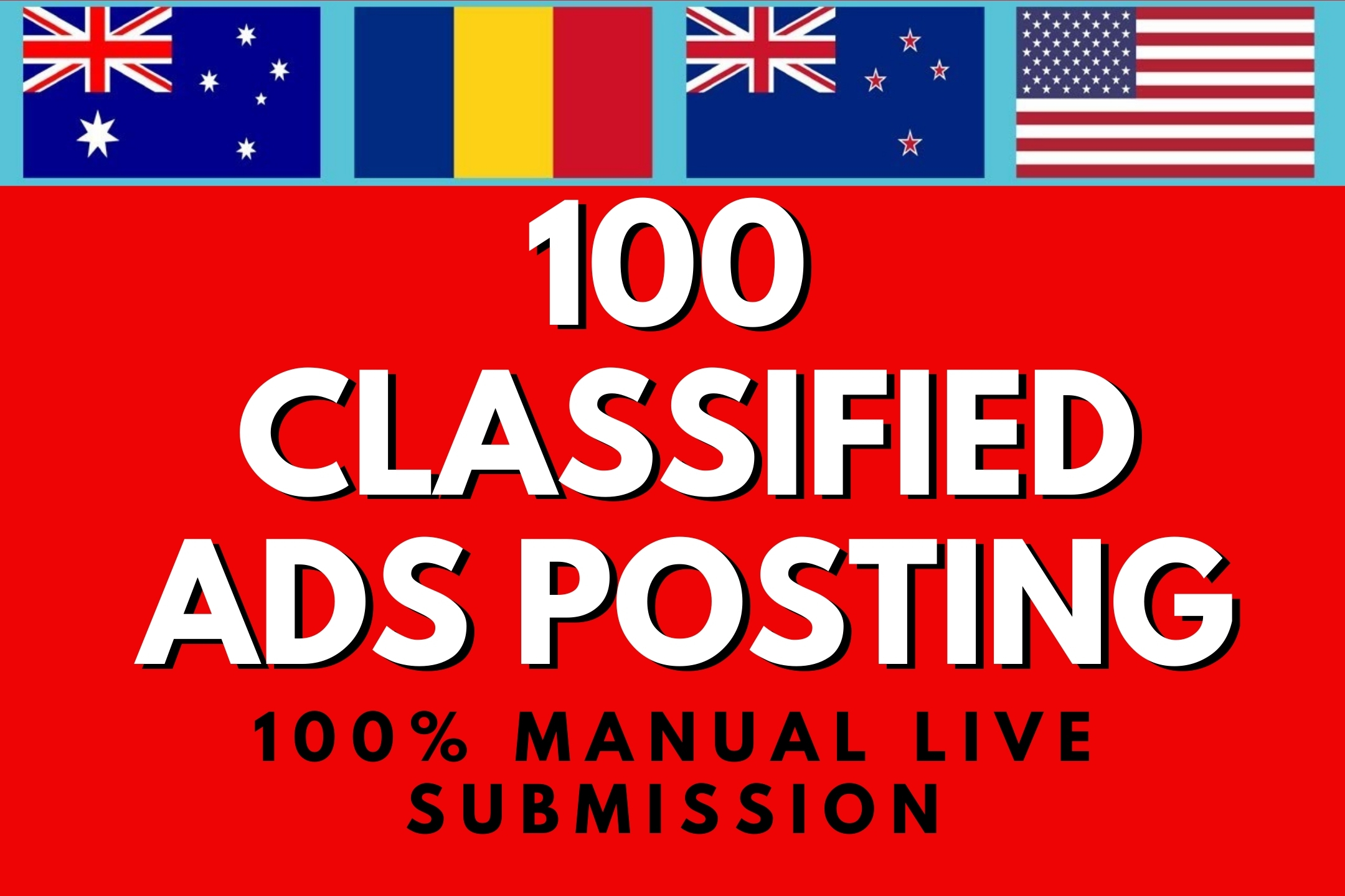 I will post 100 Classified ads on top High Authority Sites