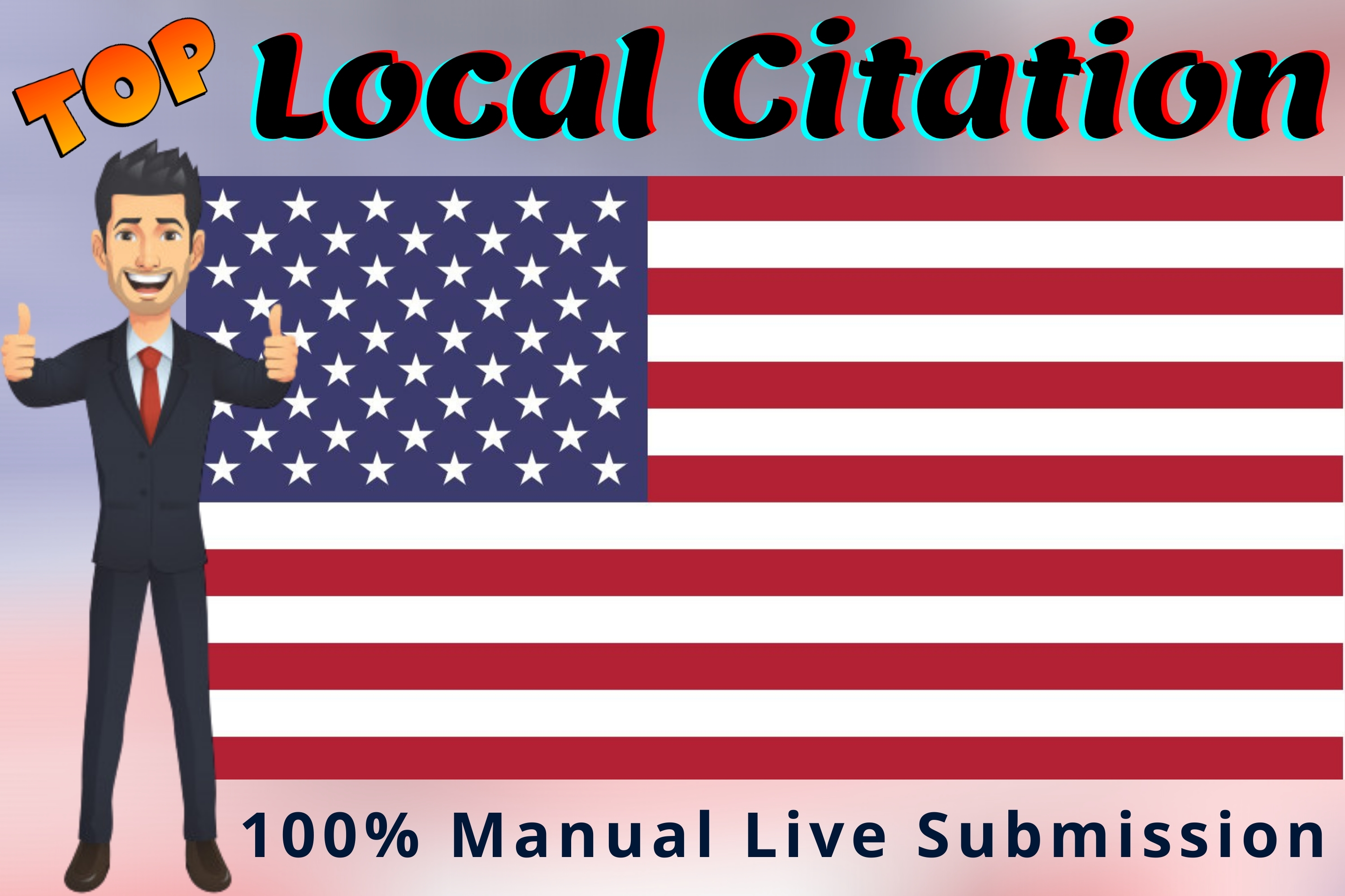 I will create Live Top 100 USA local citations or local SEO listing for your Business