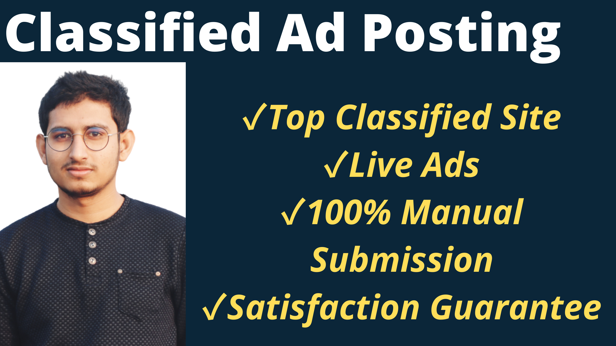I Will Manually Post Your Ads on 60 Top Classified Ad Posting Sites