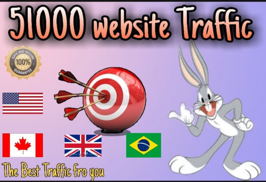 Get Real 51000+ traffic with UK, USA, Canada