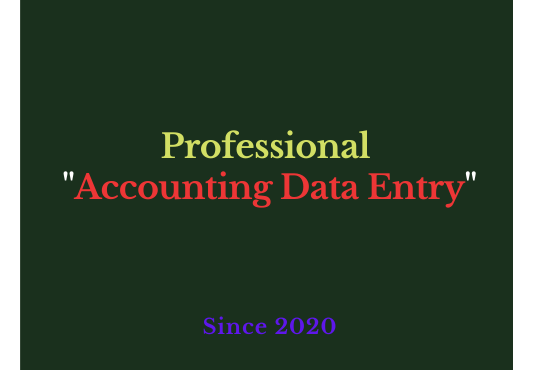 I will do Professional Accounting Management and Data Entry