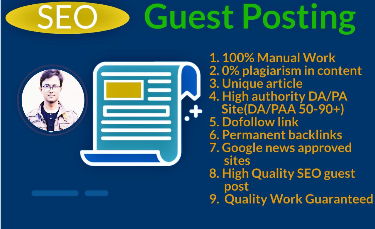 I will write and publish 5 guest post with high DA/PA Site and Medium. com,  Linkedin