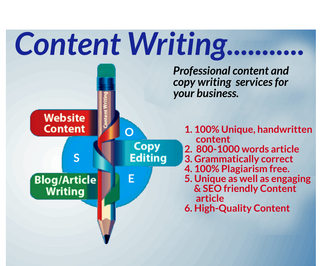 I will write a 800-1000 word SEO friendly article for your Blog and Website