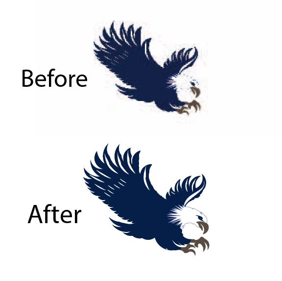 I will do manually vector tracing, vectorize logo and image perfectly