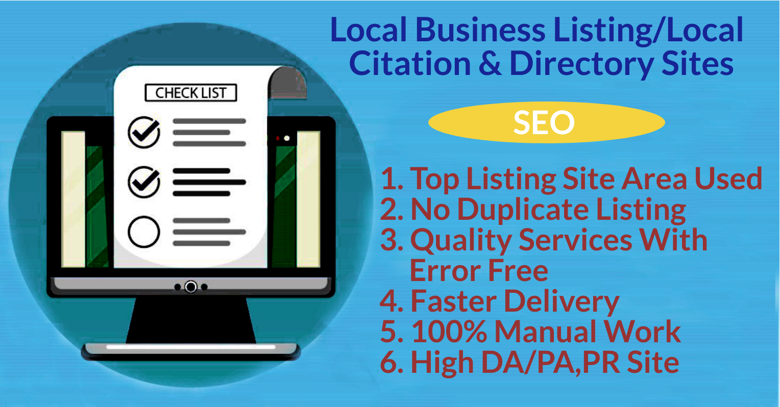I will post 100 local listings citations for UK/USA business