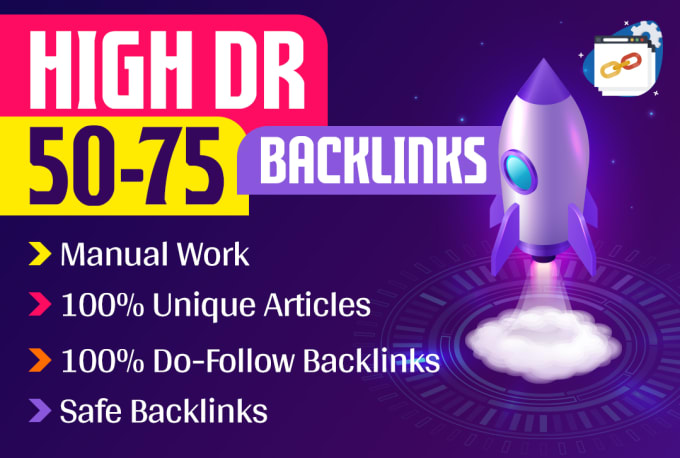 I will build 100 powerful DR 50 to 75 backlinks for seo