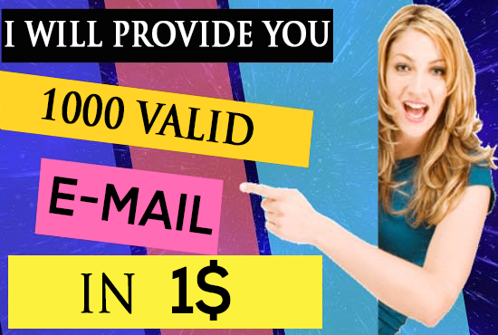 extract 1000 verified emails for Your Email Marketing