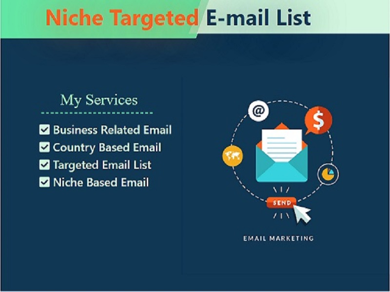 I will Provide 1000 targeted & Niche Based Emails in 24hr