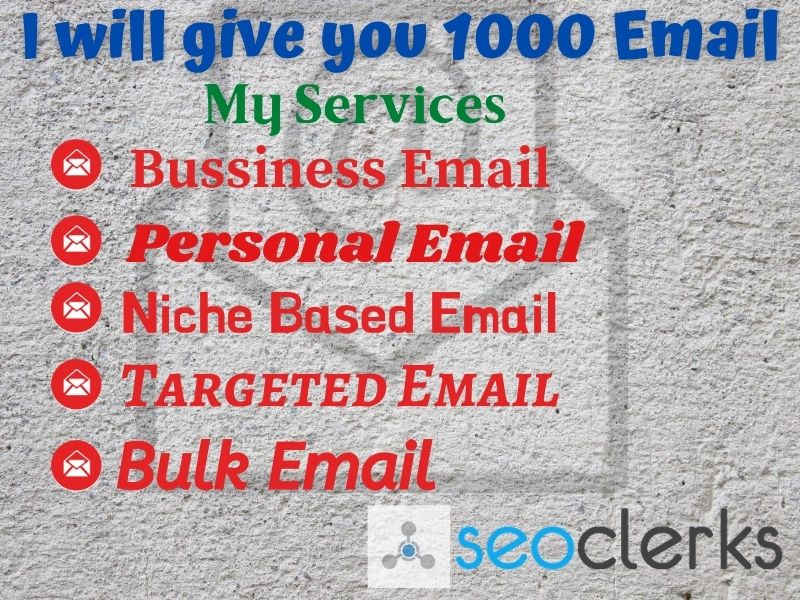 I will give you 1000 valid email