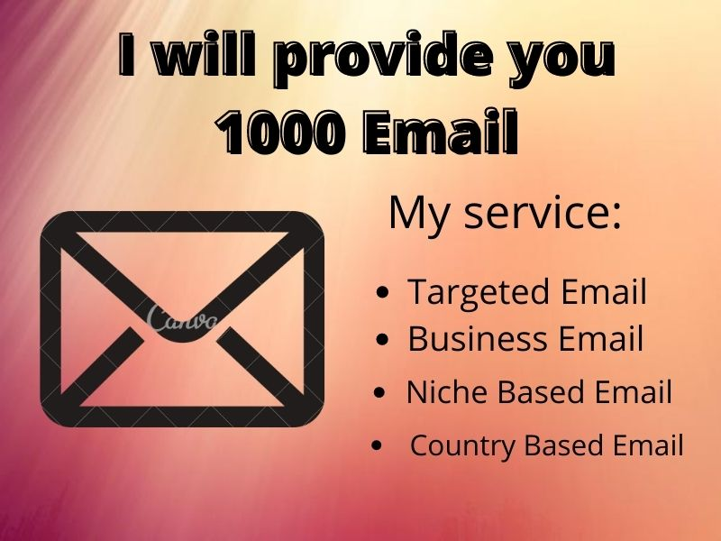 I will find you targeted valid email list