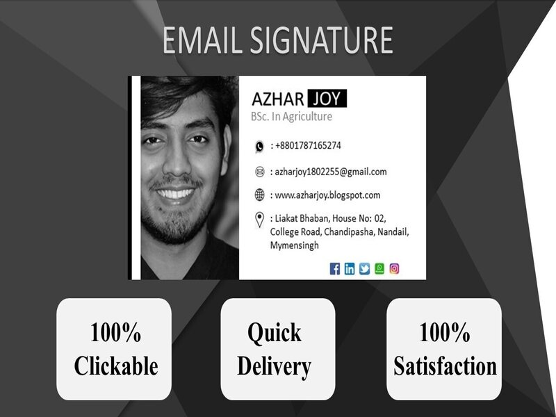 I will create & design professional clickable email signature