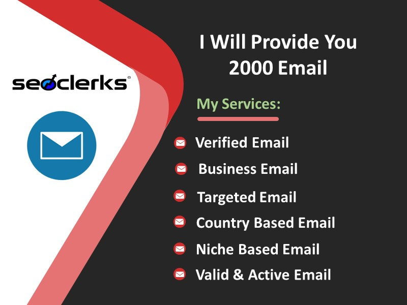I Will Provide 2000 Valid & Active Email List Within 24 hrs