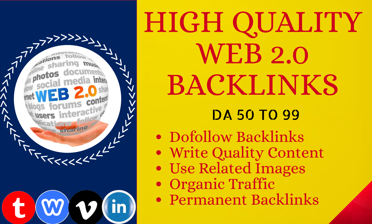 I will build 30 High Quality web 2.0 backlinks for ranking your website