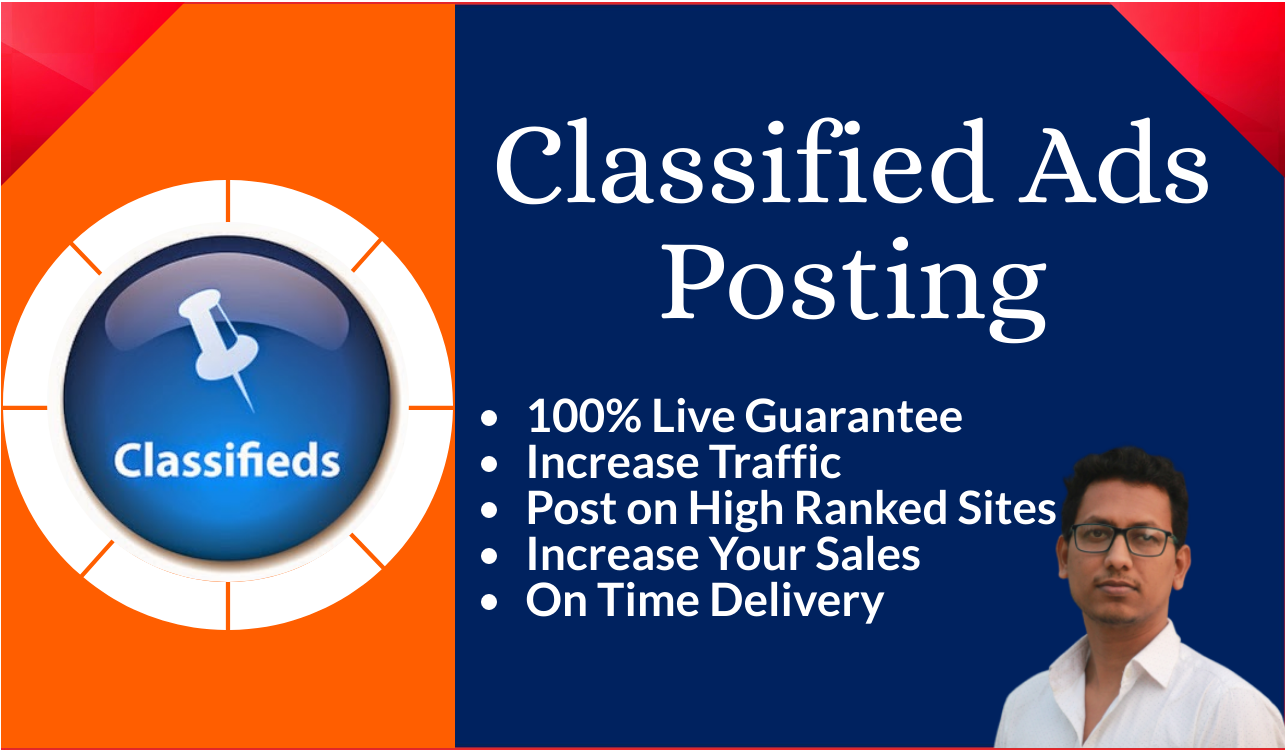 I will manually post your ads on 50 high ranked classified sites