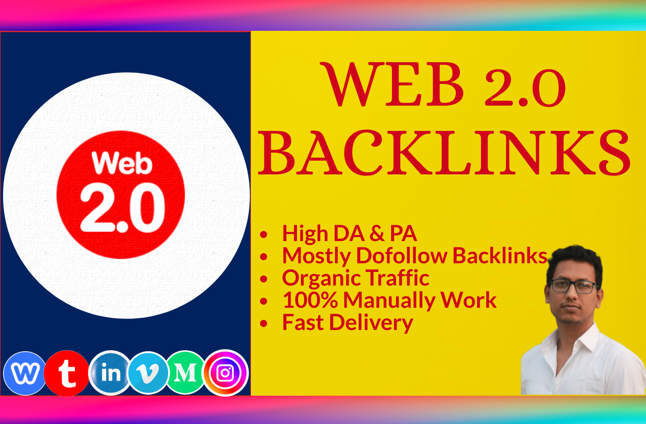 I will build 30 high authority web 2 0 dofollow backlinks