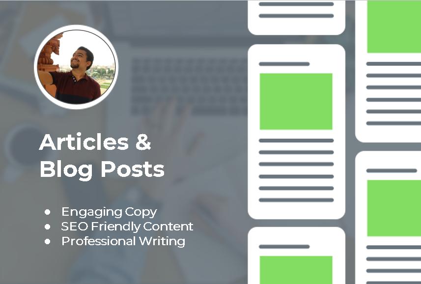 I will write a 2 x 400 unique articles in any niche