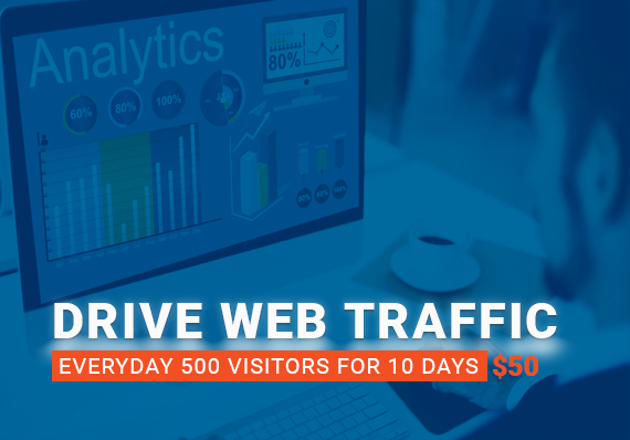 I will drive everyday 500 traffic for 10 days
