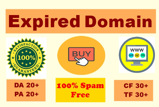 High Quality Niche Based High 2 DA-PA Expired Domain Research