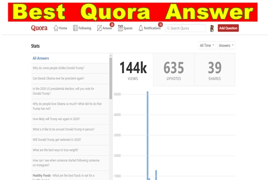Drive a targeted traffic with answer 10 backlinks Quora