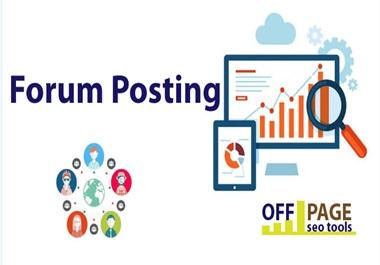 I will provide with high da 40 forum backlinks