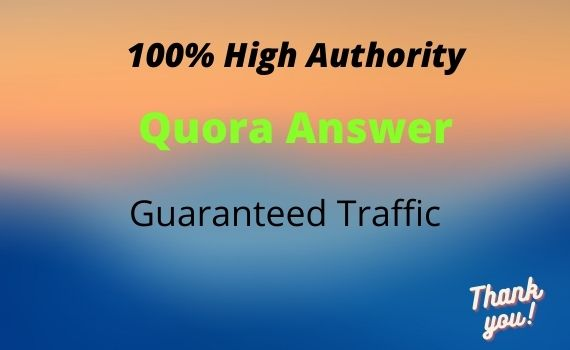 Promote your website 10 With High Quality Quora answer.