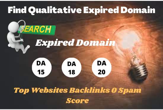 I will research SEO friendly high metrics expired domain