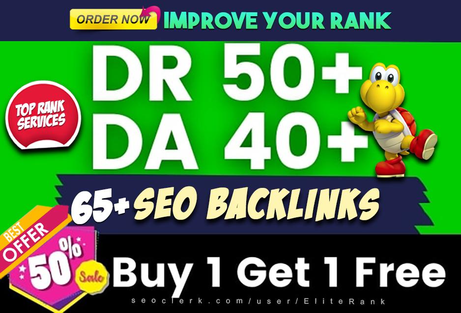 65 high quality dofollow SEO backlinks link building google top ranking
