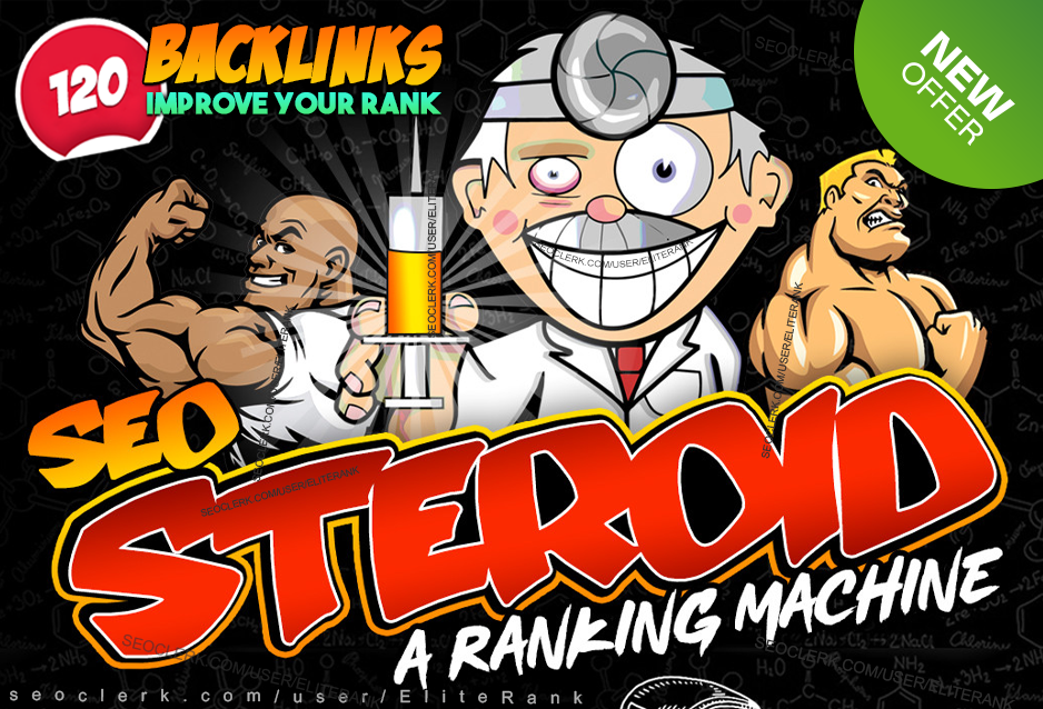 120 STEROID SEO backlinks improve your google ranking manually