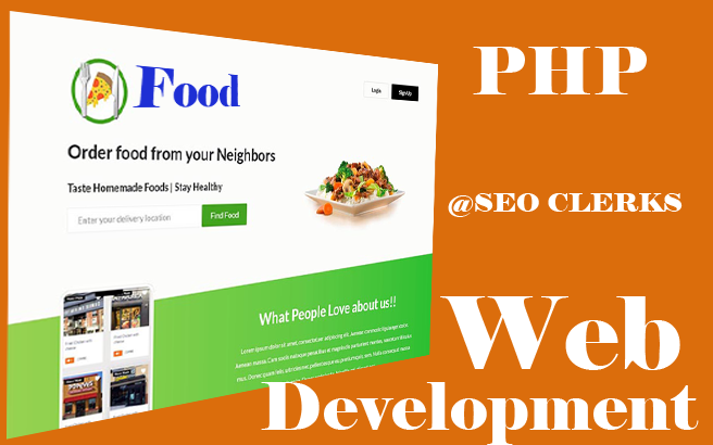 Food order system online - custom php website