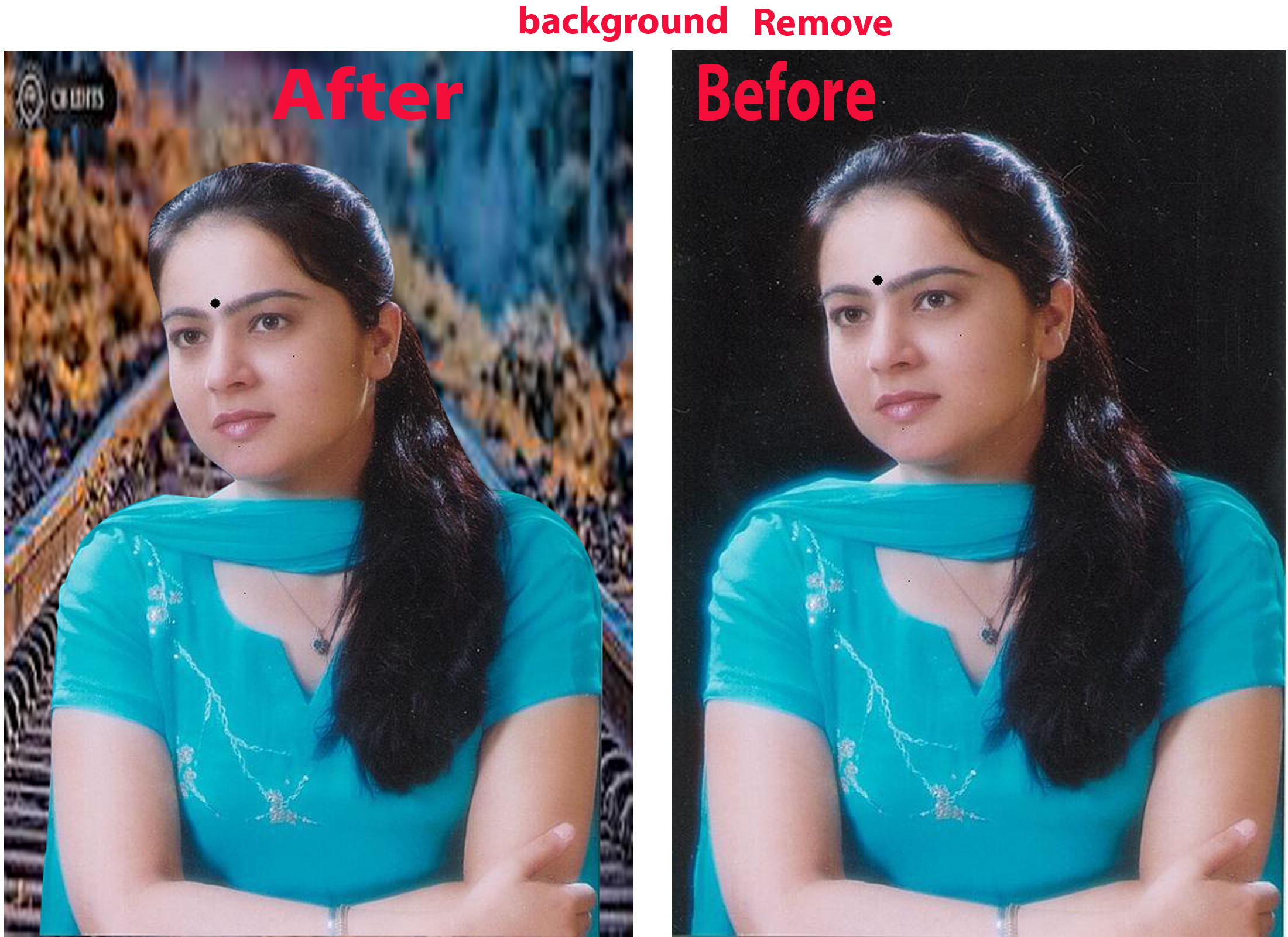 I will remove background editing of your photos