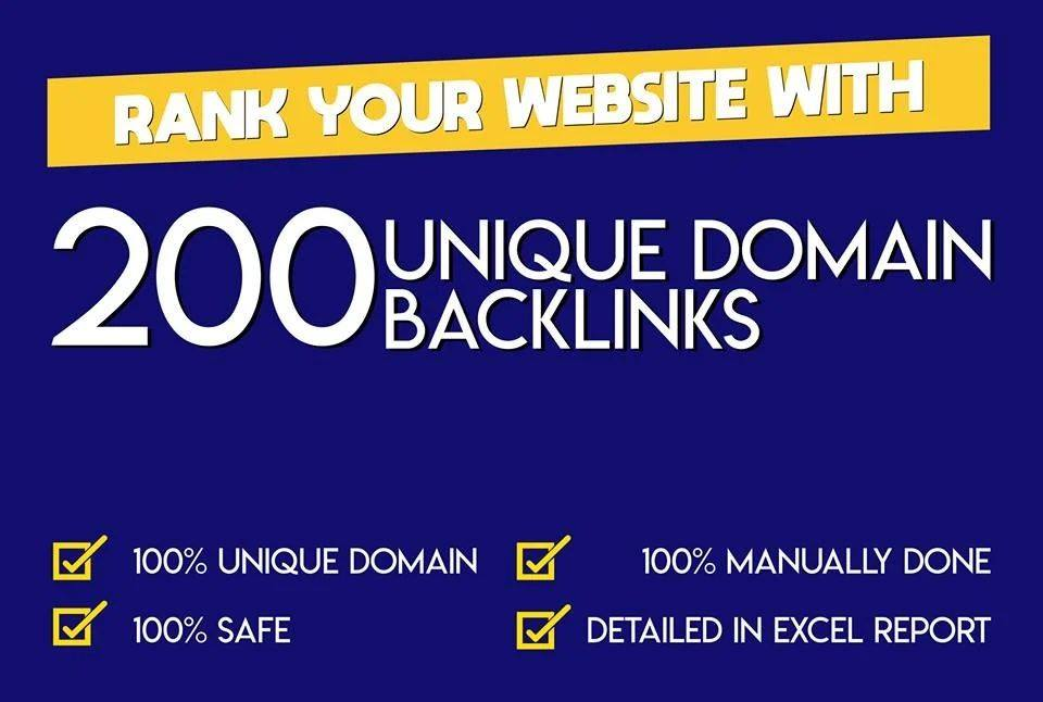 200 SEO backlinks white hat manual link building monthly service