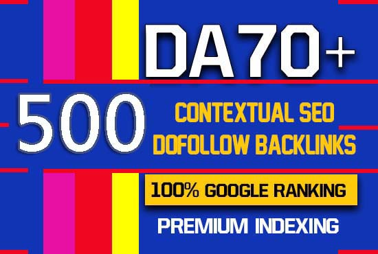 I will provide 500 high quality contextual SEO dofollow backlinks