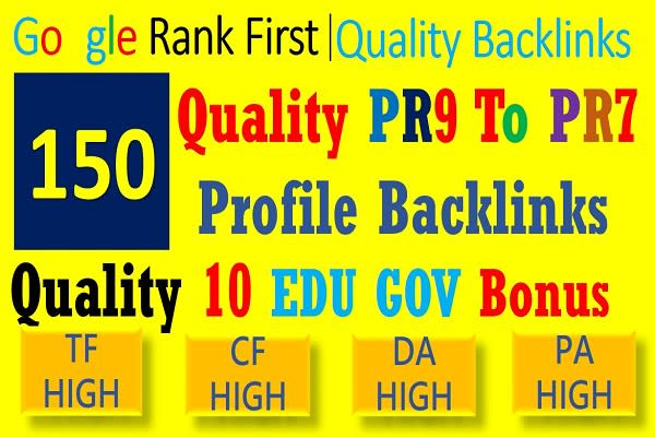 do top google ranking with 150 seo profile backlinks