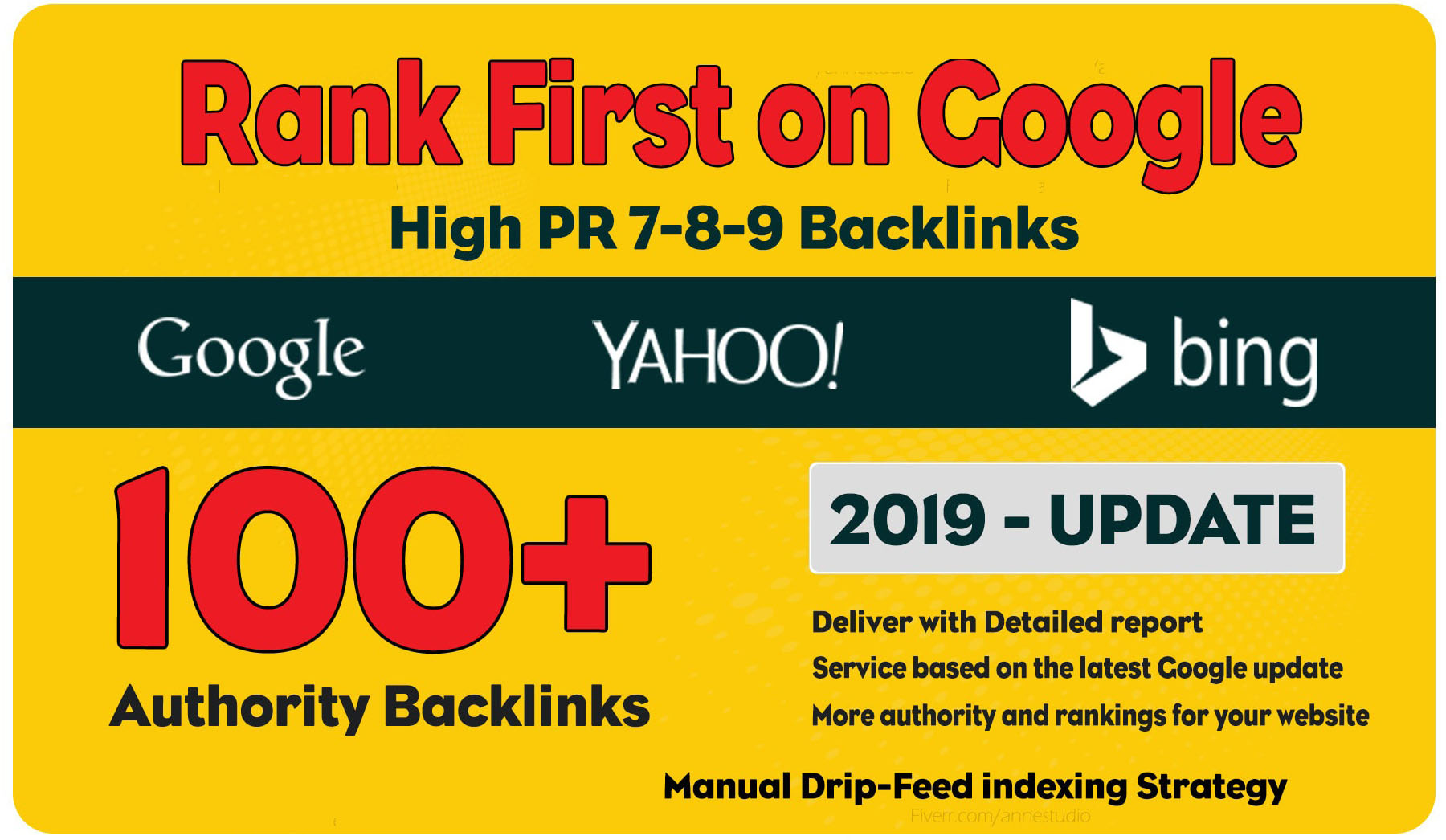 do 100 manual dofollow high pr backlinks with high da links