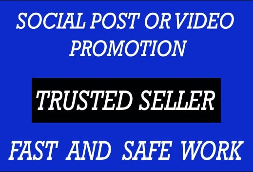 Get SOCIAL VIDEO Real Promotion With Lifetime Guarantee