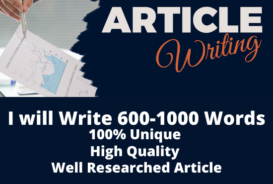 I will be your Professional SEO Optimized Article Writer