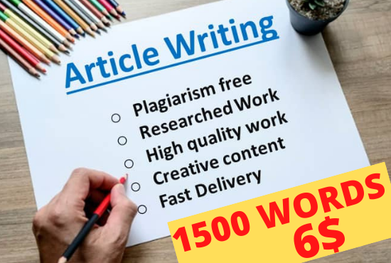 I will be your Professional SEO Article Writer for Article Writing,  Blog writing