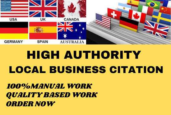 I Will Create Manually 30 HQ Local Citation or Business Listing