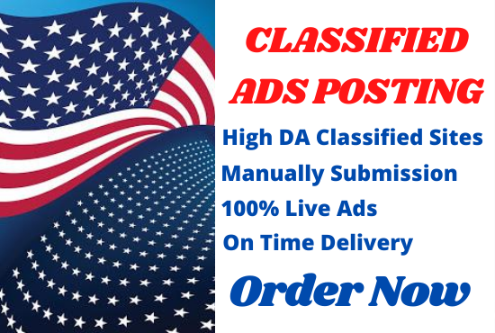 I Will Post Your Ads Manually on 100 Top Classified Sites