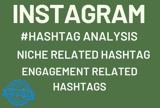 I will discover Killer hashtags for instagram twitter account growth