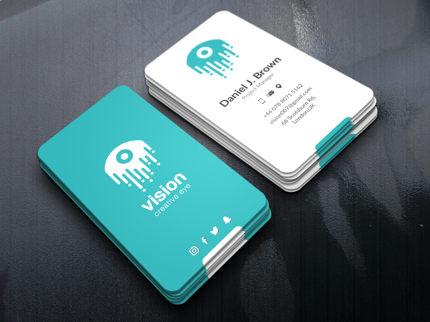 I will do MODERN and LUXURY BUSINESS CARD design in 5 Hours