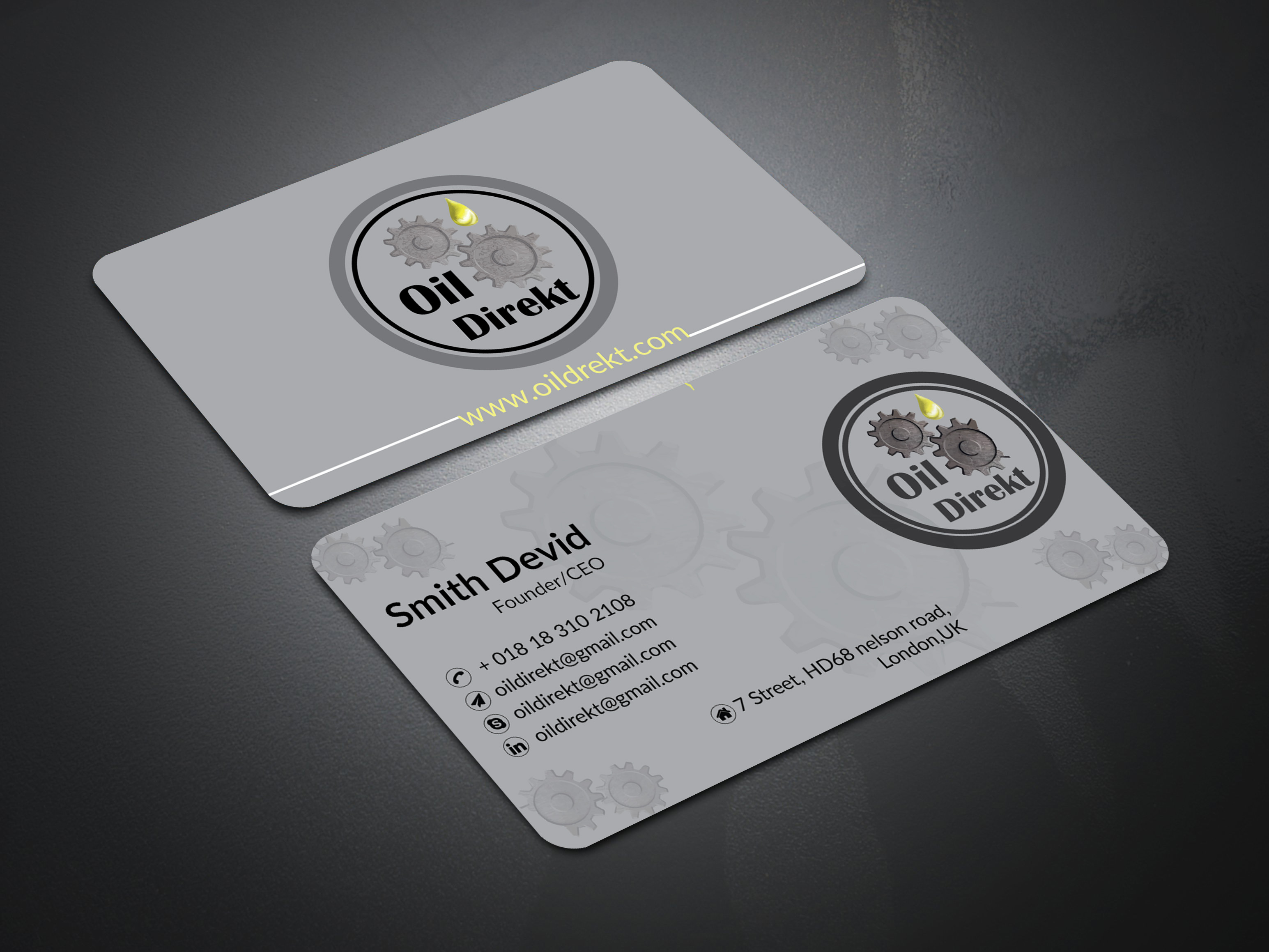 I will provide professional, minimalist, modern Budiness card for you