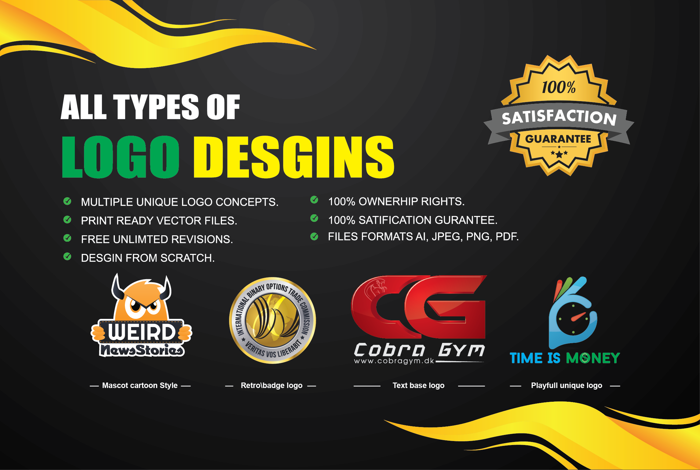 I will do professional logo designing for your business or brand