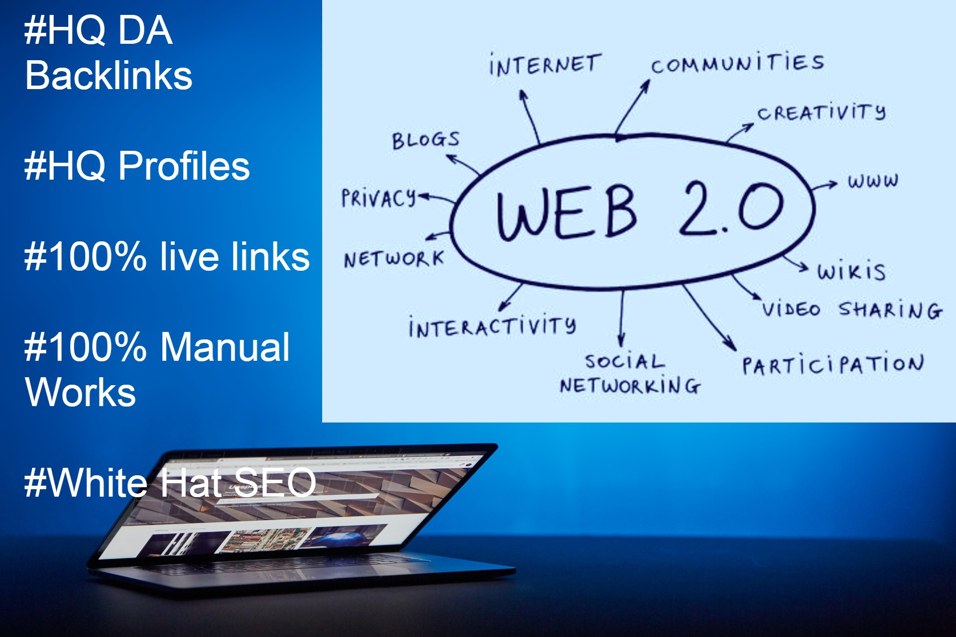 I Will Manually Create 50 HQ Super Web 2 0 Backlinks Contextual links