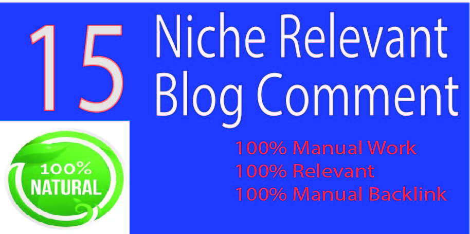 15 Niche Relevant HQ link Blog Comments
