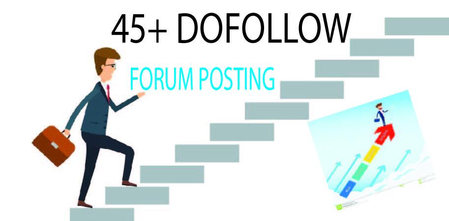 Create 50 Forum posting SEO Backlinks On High DA/PA sites