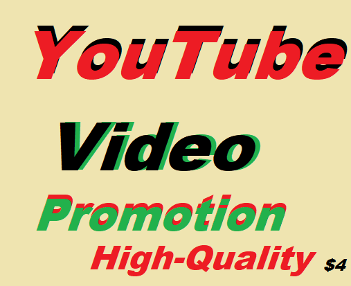 YouTube video Promotions Via World Wide Real User Manually