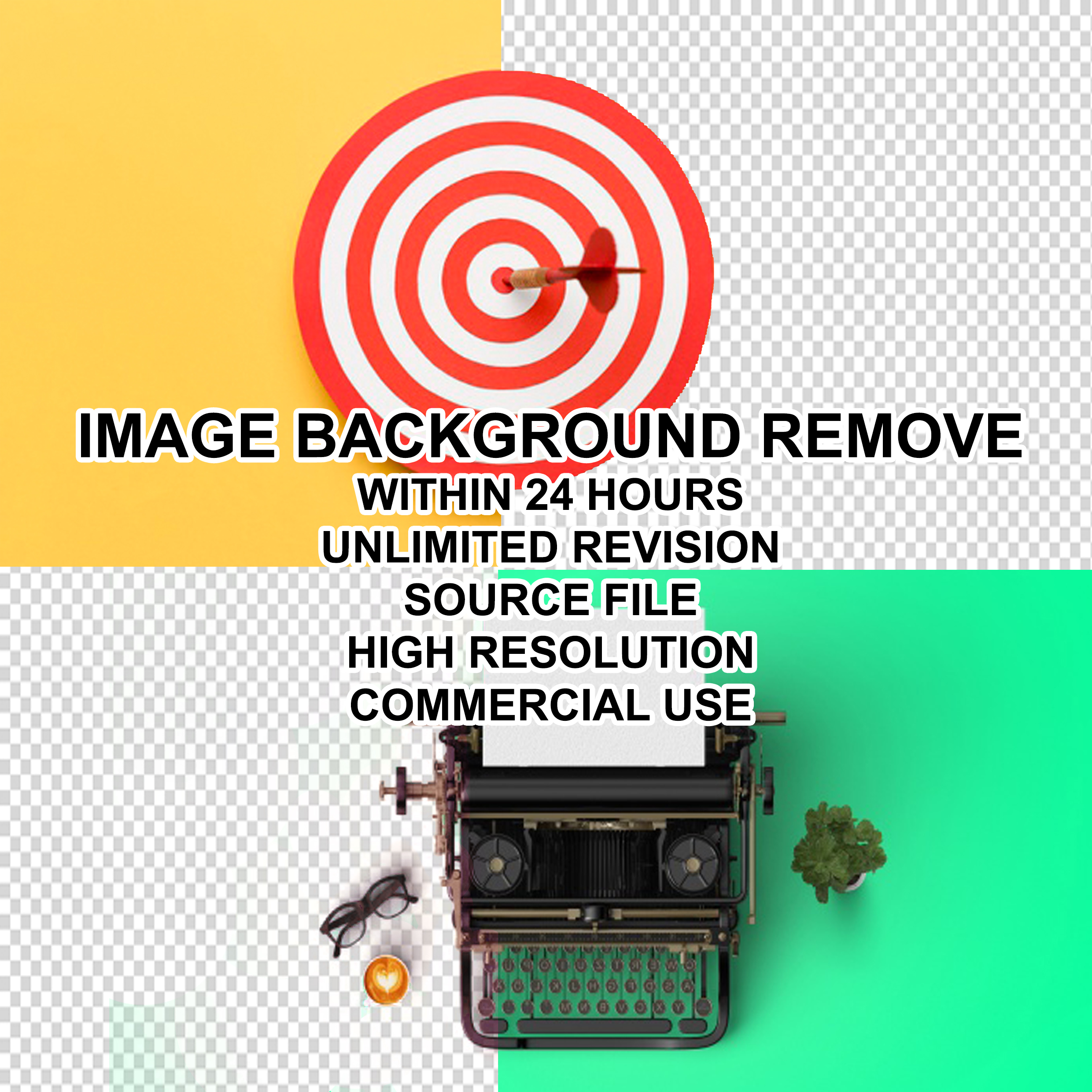 I will do remove any color background of your 50 images within 2 days