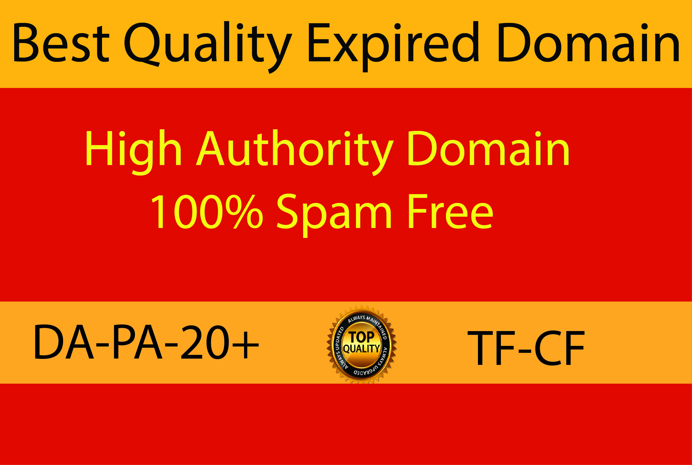 I will Provide niche relevant 1 High Authority Expired Domain for you