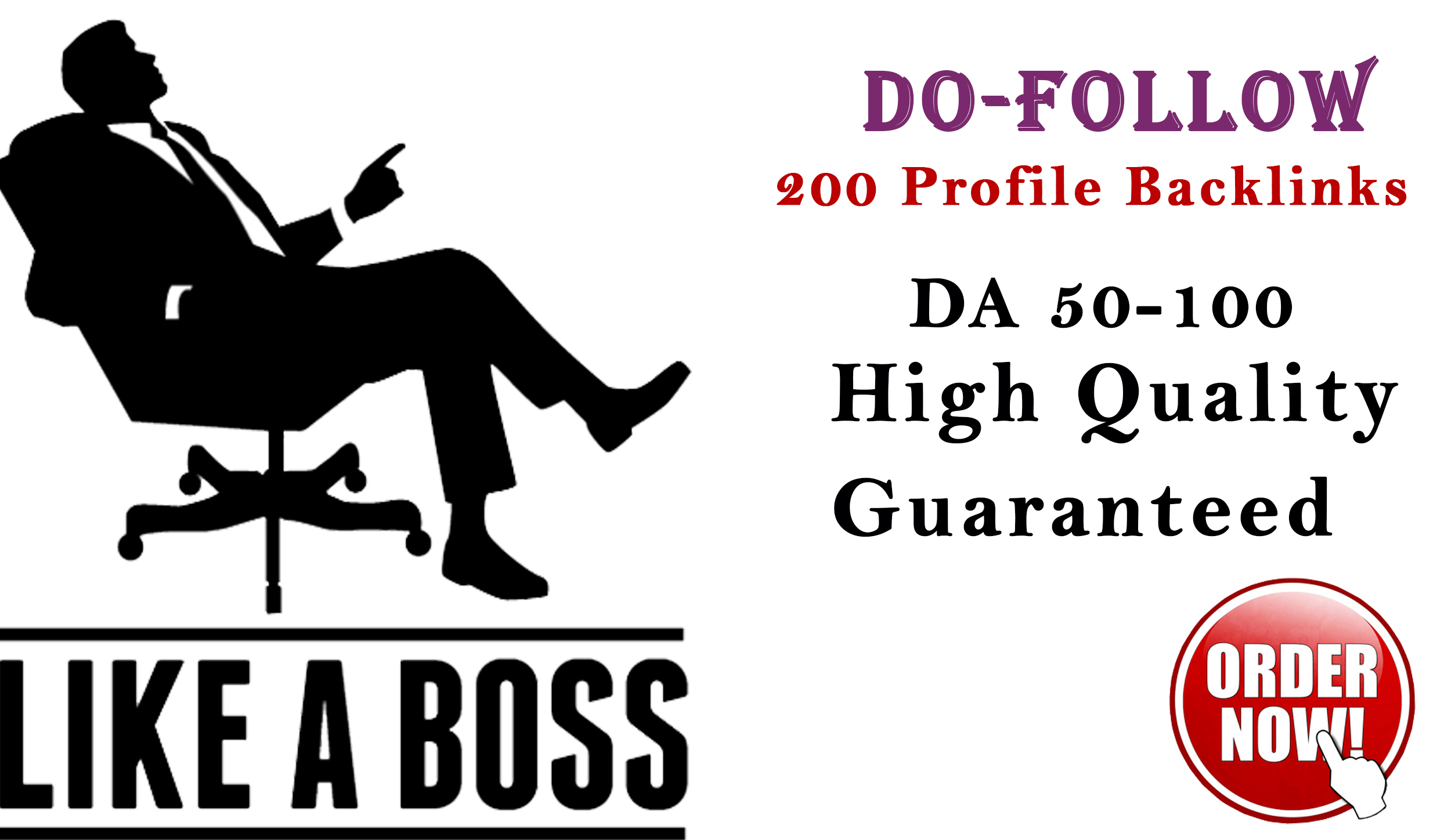 I will do 200 high domain authority profile backlinks